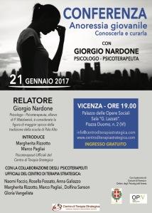 Conferenza Giorgio Nardone a Vicenza: Anoressia Giovanile.